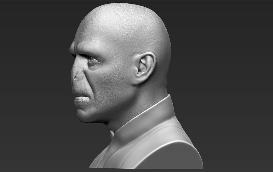 Lord Voldemort bust 3D printing ready stl obj formats royalty-free 3d model - Preview no. 4
