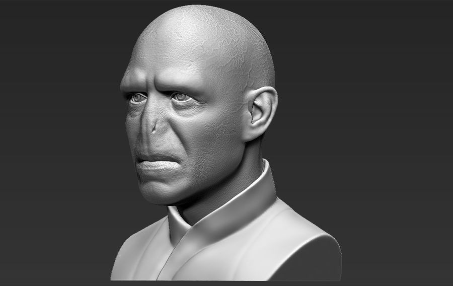 Lord Voldemort bust 3D printing ready stl obj formats royalty-free 3d model - Preview no. 3