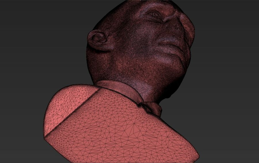 Lord Voldemort bust 3D printing ready stl obj formats royalty-free 3d model - Preview no. 33