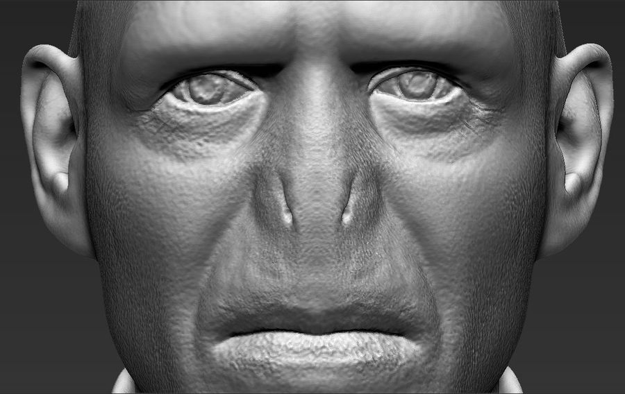 Lord Voldemort bust 3D printing ready stl obj formats royalty-free 3d model - Preview no. 20