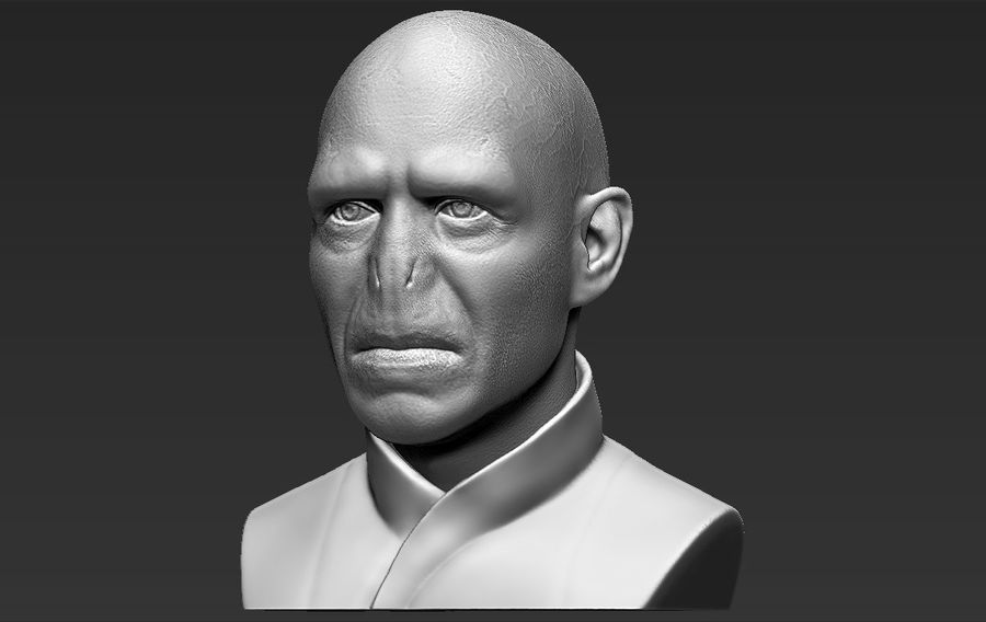 Lord Voldemort bust 3D printing ready stl obj formats royalty-free 3d model - Preview no. 2