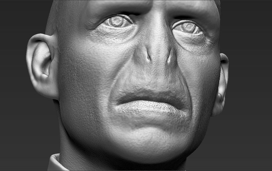 Lord Voldemort bust 3D printing ready stl obj formats royalty-free 3d model - Preview no. 25