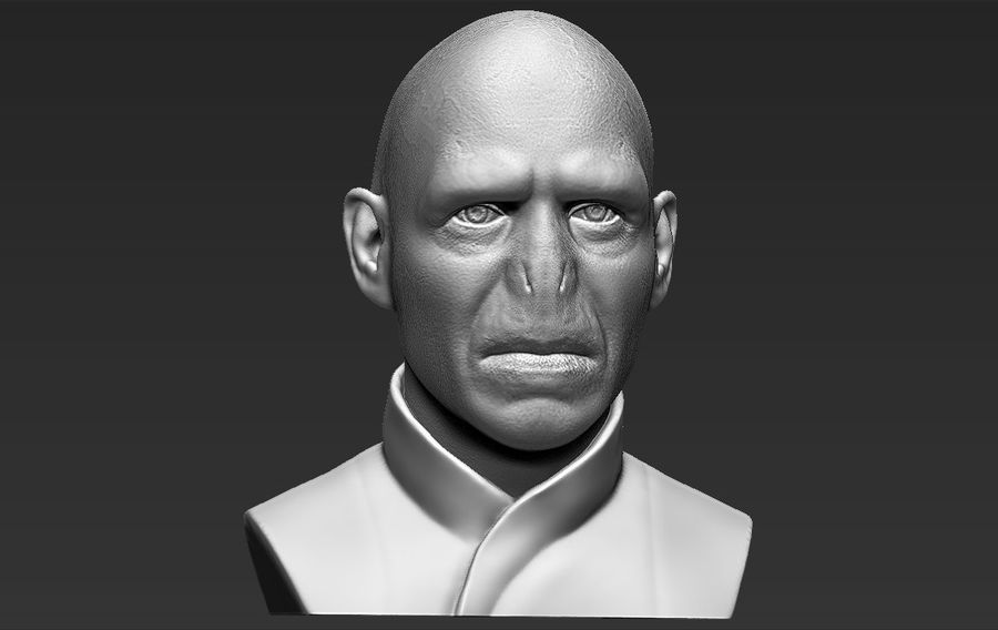 Lord Voldemort bust 3D printing ready stl obj formats royalty-free 3d model - Preview no. 14