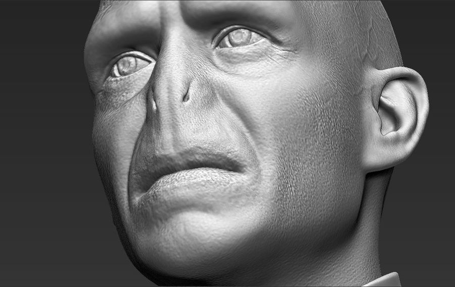 Lord Voldemort bust 3D printing ready stl obj formats royalty-free 3d model - Preview no. 26