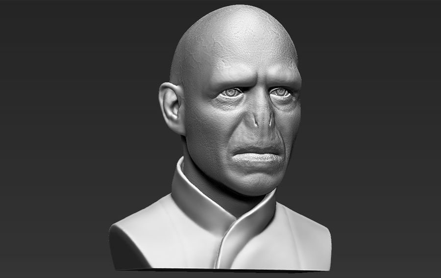 Lord Voldemort bust 3D printing ready stl obj formats royalty-free 3d model - Preview no. 13