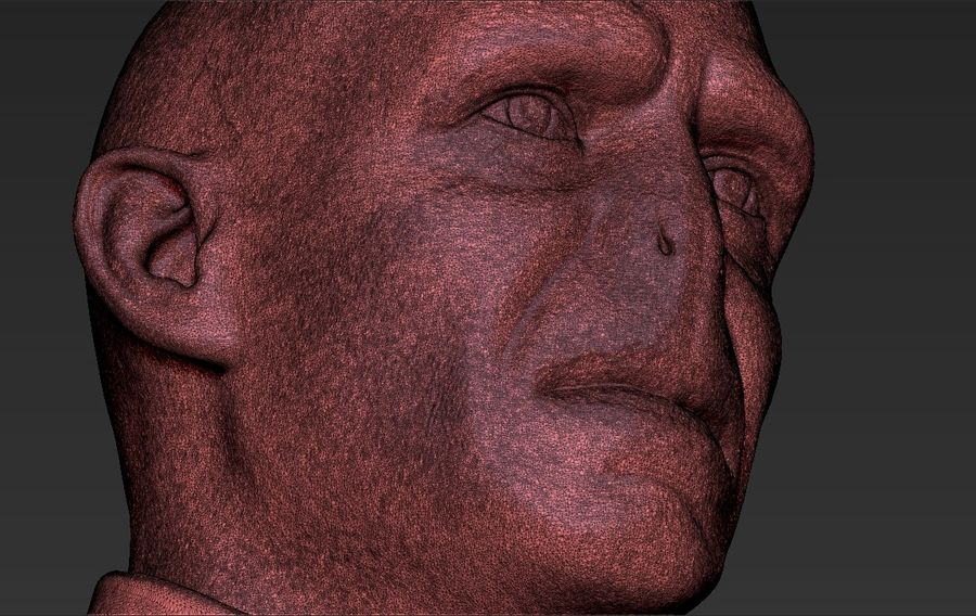 Lord Voldemort bust 3D printing ready stl obj formats royalty-free 3d model - Preview no. 32