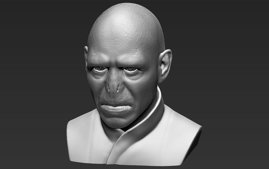 Lord Voldemort bust 3D printing ready stl obj formats royalty-free 3d model - Preview no. 16