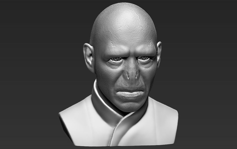 Lord Voldemort bust 3D printing ready stl obj formats royalty-free 3d model - Preview no. 15