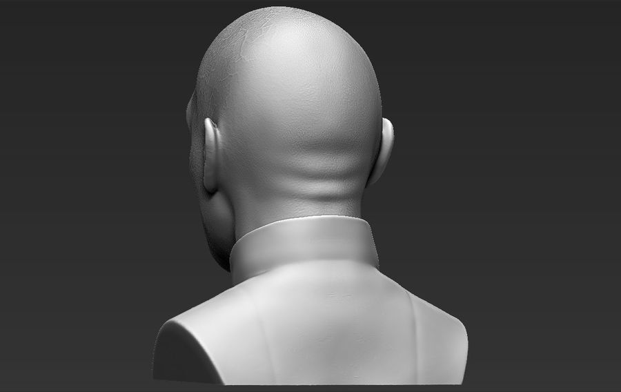 Lord Voldemort bust 3D printing ready stl obj formats royalty-free 3d model - Preview no. 7