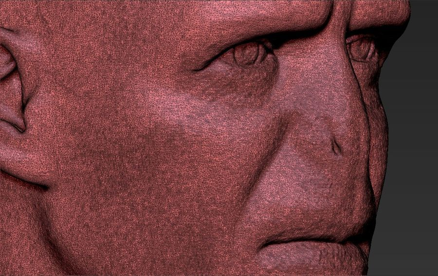 Lord Voldemort bust 3D printing ready stl obj formats royalty-free 3d model - Preview no. 31