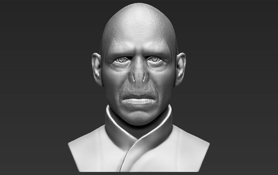 Lord Voldemort bust 3D printing ready stl obj formats royalty-free 3d model - Preview no. 1