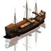 Large commercial ship 03 3d model