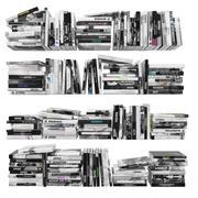 Bücher 150 Stück 2-4-4 3d model