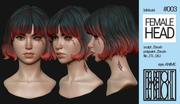 Female Anime Head #3 - Akane 3d model
