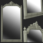 3D decoration antique mirror 3d model