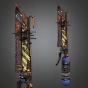 Modded Dagger 01a (PAM) - PBR Game Ready 3d model