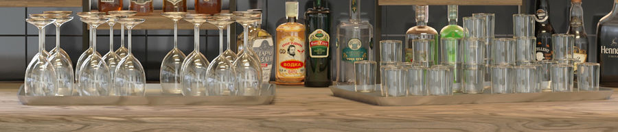 Stor bar 6 Alkohol royalty-free 3d model - Preview no. 5