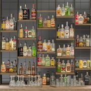 Stor bar 6 Alkohol 3d model