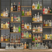 Large bar 6 Alcohol 3d model