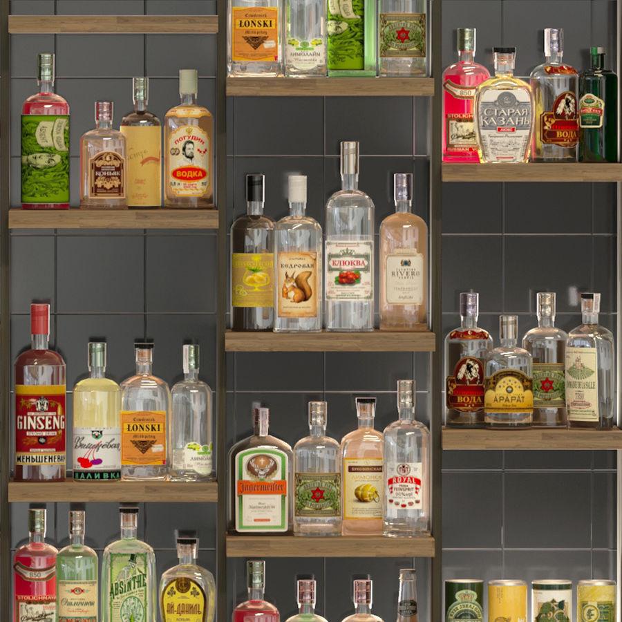 Stor bar 6 Alkohol royalty-free 3d model - Preview no. 4