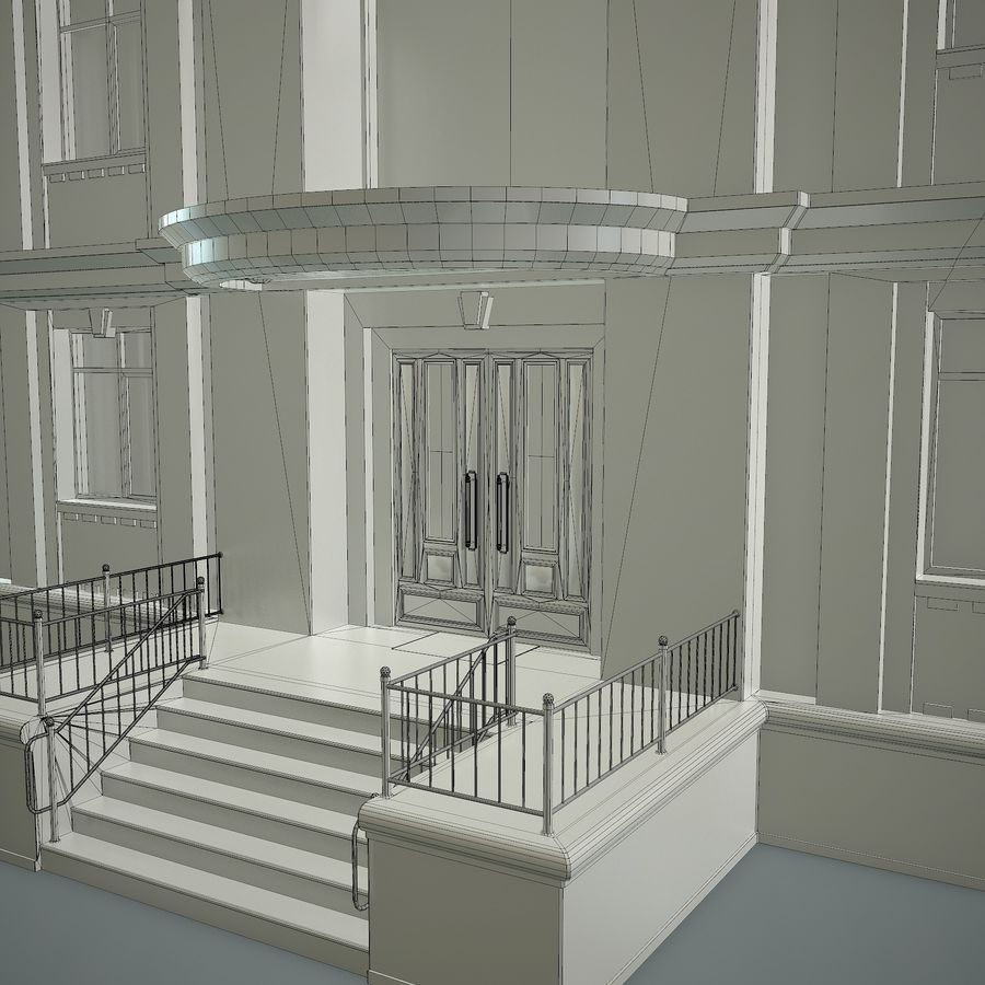 低层建筑 royalty-free 3d model - Preview no. 20