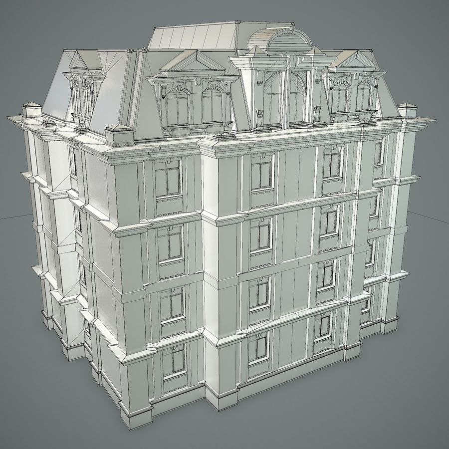 低层建筑 royalty-free 3d model - Preview no. 18