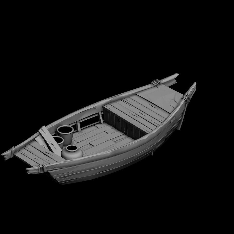 Ruch drogowy - Mała drewniana łódź 04 royalty-free 3d model - Preview no. 4