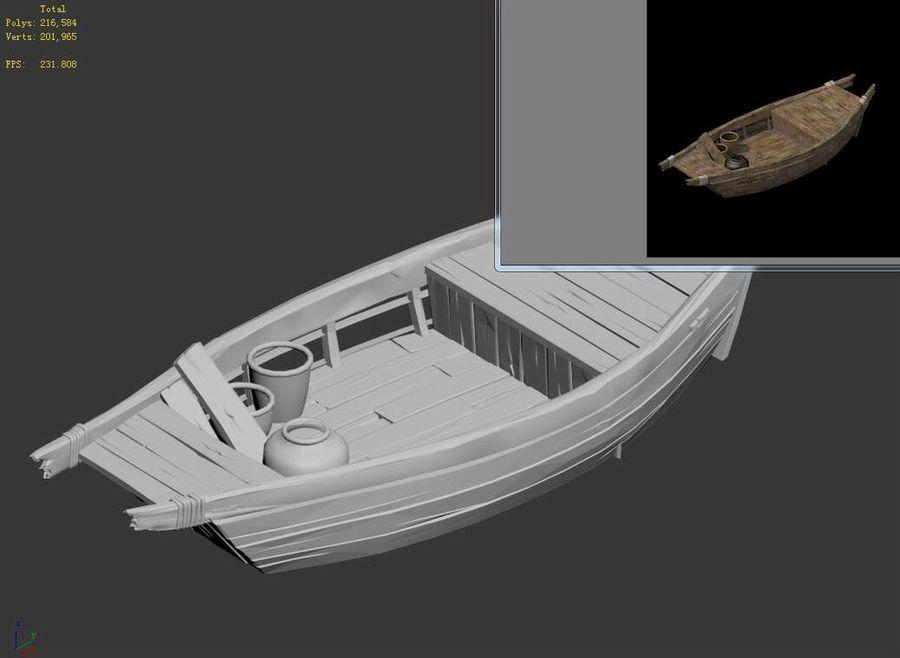 Ruch drogowy - Mała drewniana łódź 04 royalty-free 3d model - Preview no. 6