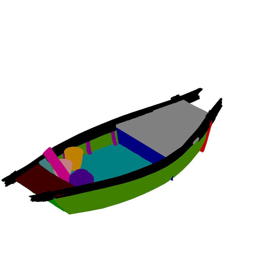 Ruch drogowy - Mała drewniana łódź 04 royalty-free 3d model - Preview no. 3