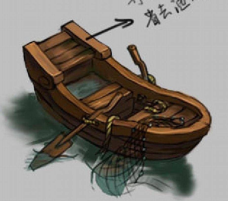 Południowe przedmieścia - łódź rybacka 06 royalty-free 3d model - Preview no. 5