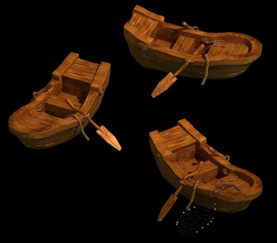 Południowe przedmieścia - łódź rybacka 06 royalty-free 3d model - Preview no. 2