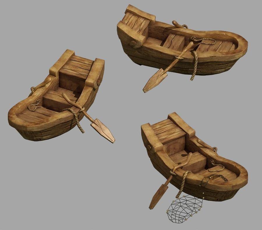 Południowe przedmieścia - łódź rybacka 06 royalty-free 3d model - Preview no. 1