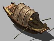 Путешествие на запад - лодка 02 3d model