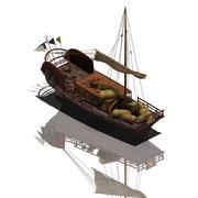 Starożytne Chiny - wysyłka handlowa 04 3d model