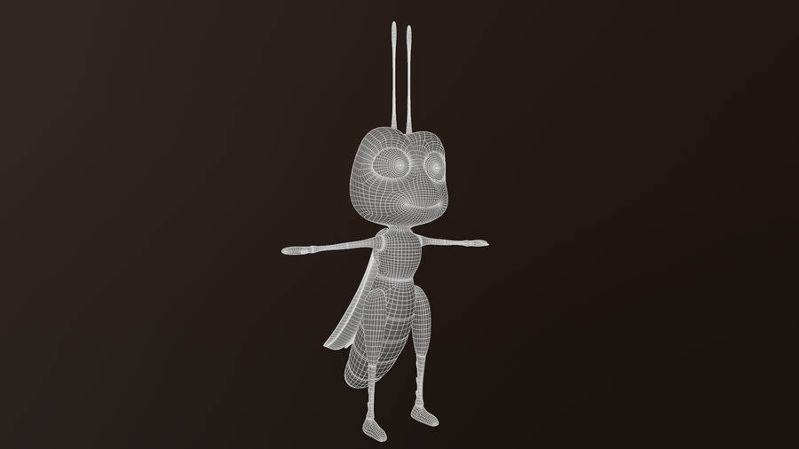 Asset - Cartoons - Character - Locust - Hight Poly - Rig royalty-free 3d model - Preview no. 9