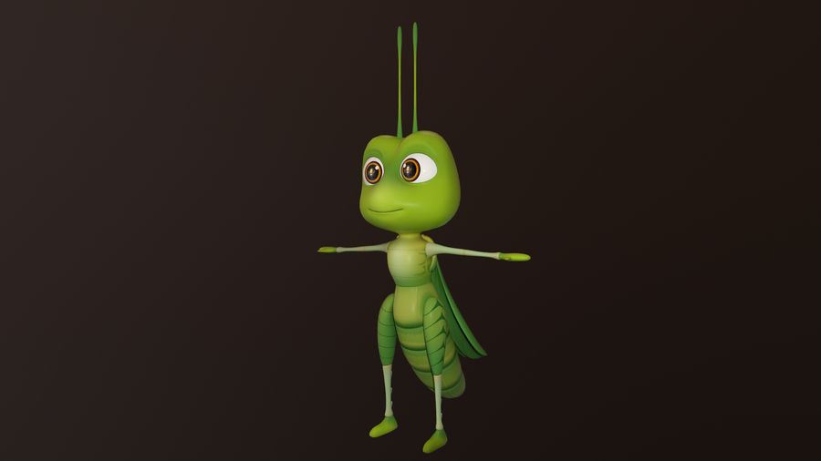 Asset - Cartoons - Character - Locust - Hight Poly - Rig royalty-free 3d model - Preview no. 5