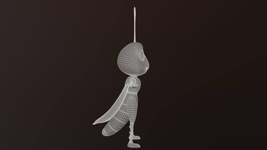 Asset - Cartoons - Character - Locust - Hight Poly - Rig royalty-free 3d model - Preview no. 8