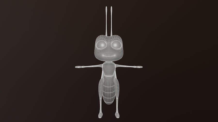 Asset - Cartoons - Character - Locust - Hight Poly - Rig royalty-free 3d model - Preview no. 6