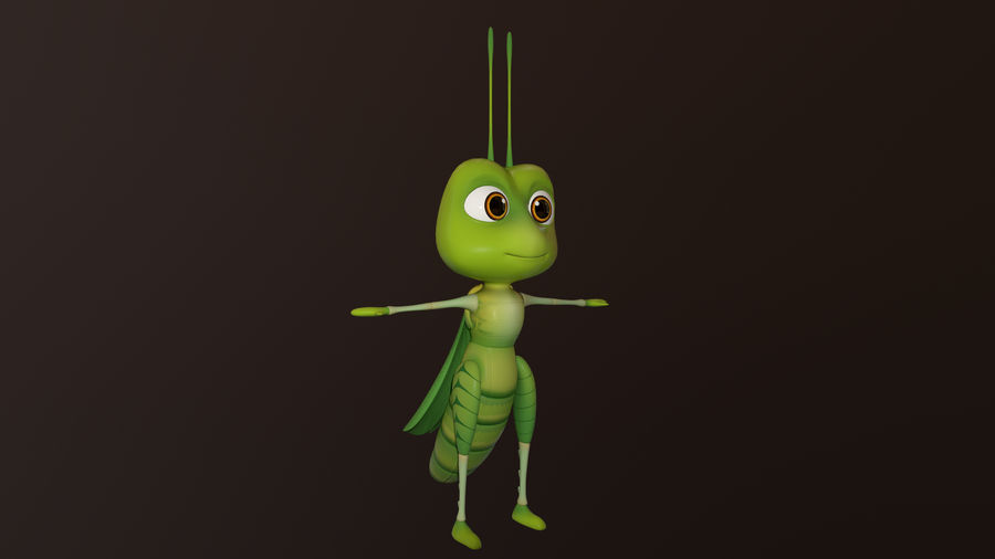 Asset - Cartoons - Character - Locust - Hight Poly - Rig royalty-free 3d model - Preview no. 4