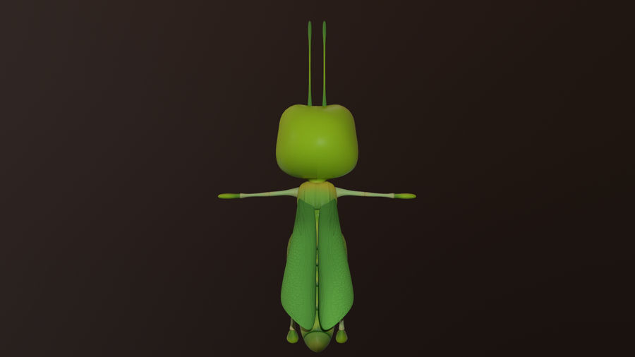 Asset - Cartoons - Character - Locust - Hight Poly - Rig royalty-free 3d model - Preview no. 2