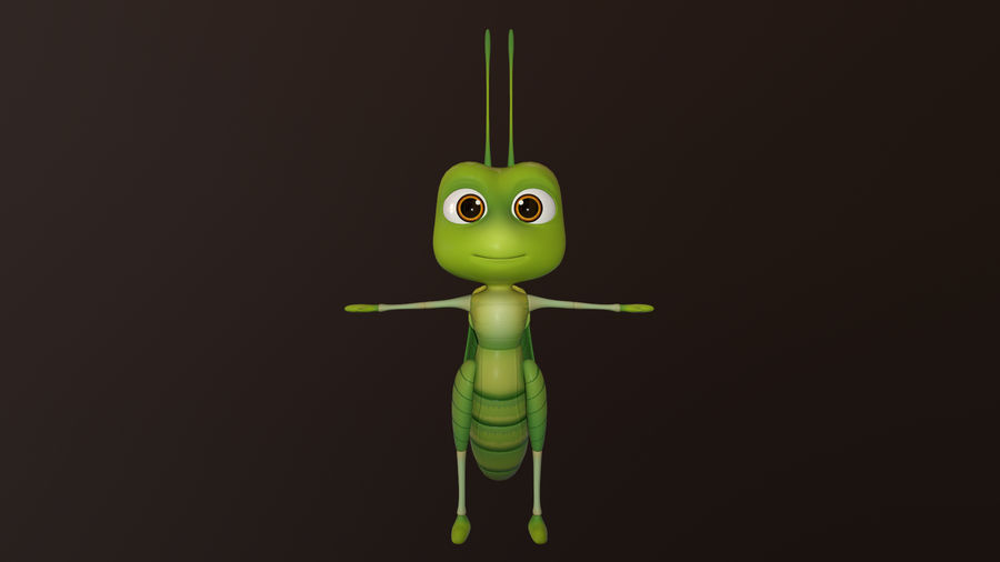 Asset - Cartoons - Character - Locust - Hight Poly - Rig royalty-free 3d model - Preview no. 1