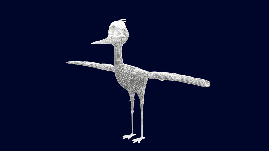 Asset - Cartoons - Character - Animals - Rig - Stork royalty-free 3d model - Preview no. 8