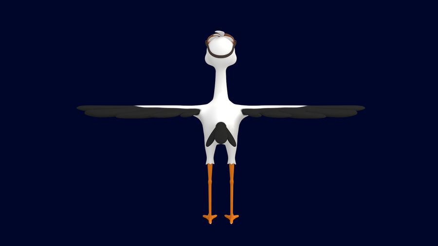 Asset - Cartoons - Character - Animals - Rig - Stork royalty-free 3d model - Preview no. 5