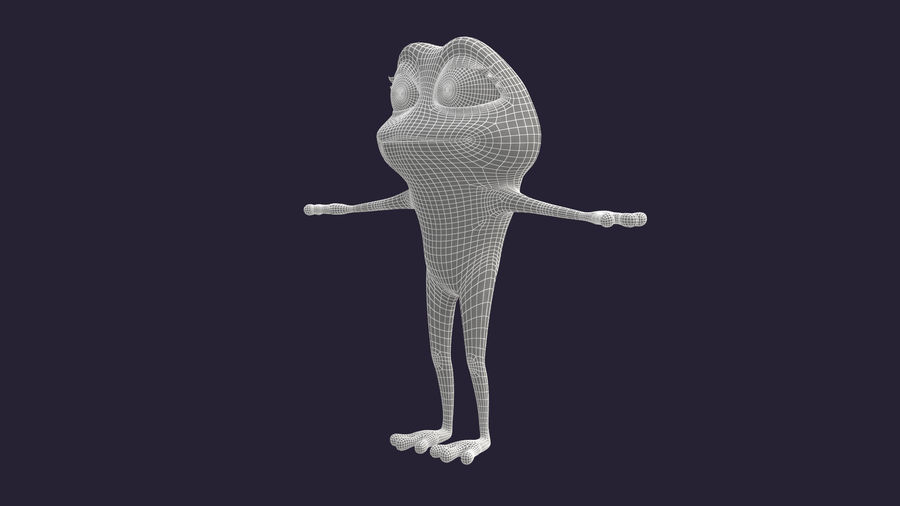 Asset - Cartoons - Character - Animals - Frog - Hight Poly royalty-free 3d model - Preview no. 11