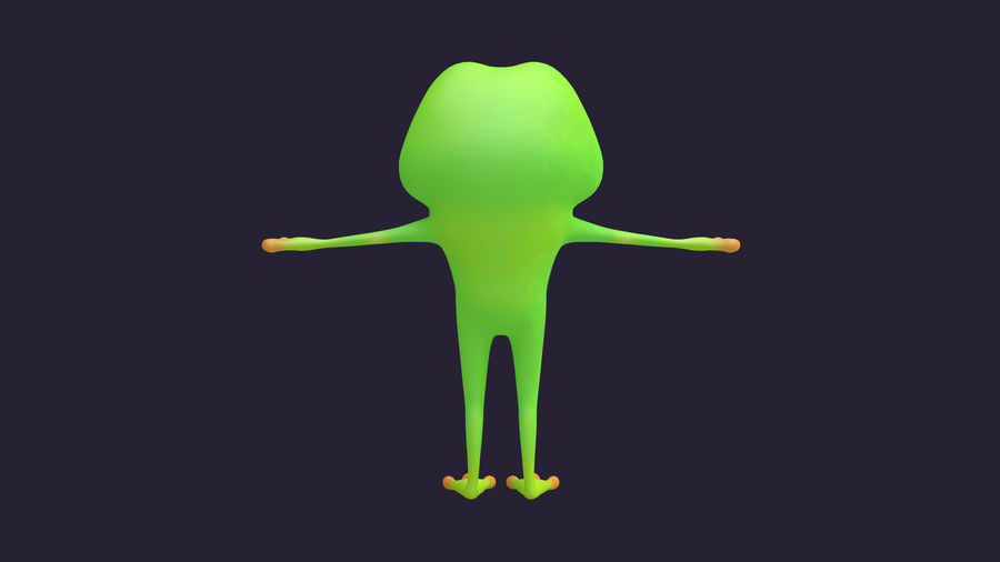 Asset - Cartoons - Character - Animals - Frog - Hight Poly royalty-free 3d model - Preview no. 12