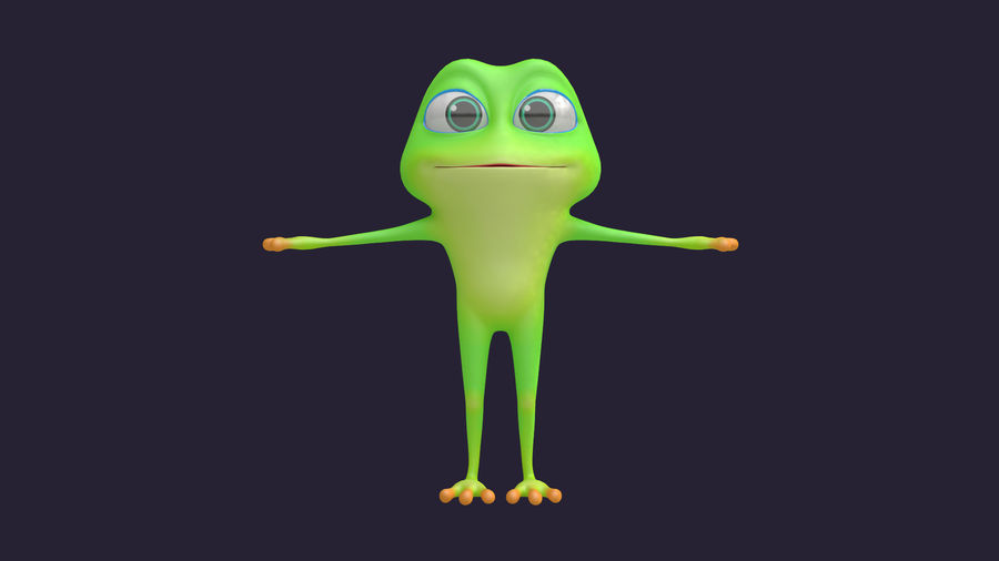 Asset - Cartoons - Character - Animals - Frog - Hight Poly royalty-free 3d model - Preview no. 6