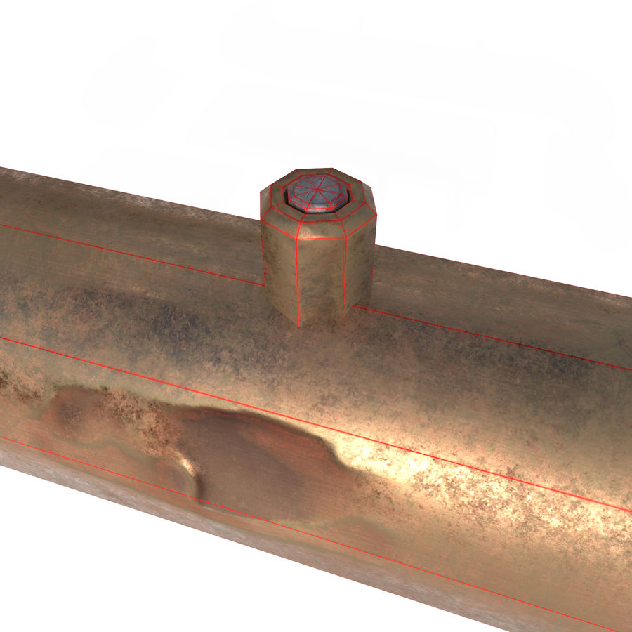 Pipe royalty-free 3d model - Preview no. 5