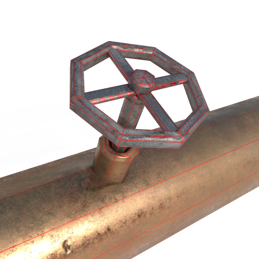 Pipe royalty-free 3d model - Preview no. 3