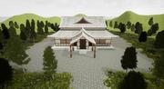 Japanska templet 3d model