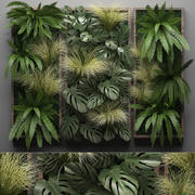 Jardinage vertical Fern Wall 10 3d model